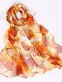 baratos Lenços e lenços femininos-Mulheres Chiffon, Retângular - Estampado Abstrato