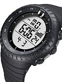 Χαμηλού Κόστους Quartz Ρολόγια-BIDEN Γυναικεία Αθλητικό Ρολόι Ψηφιακό ρολόι Ψηφιακή Δέρμα Μαύρο 50 m Ανθεκτικό στο Νερό Ημερολόγιο Νυχτερινή λάμψη Αναλογικό Καθημερινό Μοντέρνα - Λευκό Μαύρο