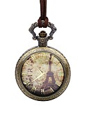 ราคาถูก เสื้อโปโลสำหรับผู้ชาย-สำหรับผู้ชาย นาฬิกาแบบพกพา นาฬิกาอิเล็กทรอนิกส์ (Quartz) หนัง น้ำตาล ปุ่มหมุนขนาดใหญ่ ระบบอนาล็อก หอไอเฟล สง่างาม - บรอนซ์ หนึ่งปี อายุการใช้งานแบตเตอรี่