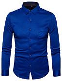 povoljno Muške košulje-Majica Muškarci - Ulični šik Dnevno Print Plava / Dugih rukava