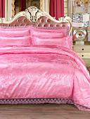billige Tights til damer-Sengesett Luksus Imitasjon Silke Mønstret 4 delerBedding Sets / 500 / 4stk (1 Dynebetræk, 1 Lagen, 2 Pudebetræk)