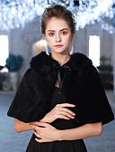 Χαμηλού Κόστους Επαγγελματικά Φορέματα-Αμάνικο Ψεύτικη Γούνα Γάμου / Πάρτι / Βράδυ Γυναικείες εσάρμπες Με Κορδόνια Κοντή Κάπα