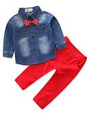 povoljno Kompletići za dječake-Djeca Dječaci Mašna Svečana odjeća Party Dnevno Formalan Print Dugih rukava Regularna Normalne dužine Pamuk Komplet odjeće Red