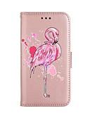 billige Samsung-tilbehør-Etui Til Samsung Galaxy S8 Plus / S8 / S7 edge Lommebok / Kortholder / med stativ Heldekkende etui Flamingo / Glimtende Glitter Hard PU Leather