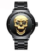 ราคาถูก นาฬิกากีฬา-สำหรับผู้ชาย นาฬิกาข้อมือ ญี่ปุ่น นาฬิกาอิเล็กทรอนิกส์ (Quartz) สแตนเลส ดำ กันน้ำ โครโนกราฟ นาฬิกาใส่ลำลอง ระบบอนาล็อก ความหรูหรา ไม่เป็นทางการ หัวกระโหลก แฟชั่น - สีทอง สีดำ / สองปี / สองปี