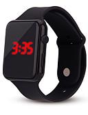 billige Digitale klokker-Dame damer Digital Watch Square Watch Digital Silikon Svart / Hvit / Blå Kronograf Hverdagsklokke Kul Digital Fritid Mote Minimalistisk - Svart Hvit Lilla