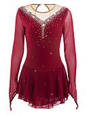 Χαμηλού Κόστους Φόρεμα για παγοδρομία-Φόρεμα για φιγούρες πατινάζ Γυναικεία Κοριτσίστικα Patinaj Φορέματα Μαύρο Μπλε Απαλό Λευκό Ελαστίνη Υψηλή Ελαστικότητα Ανταγωνισμός Ενδυμασία πατινάζ Χειροποίητο Jeweled Στρας Μακρυμάνικο