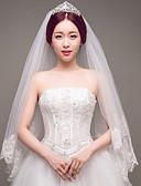 ราคาถูก ม่านสำหรับงานแต่งงาน-Two-tier งานผ้าขอบลายลูกไม้ / การแต่งงาน / เกี่ยวกับเจ้าสาว ผ้าคลุมหน้าชุดแต่งงาน ผ้าคลุมศรีษะสำหรับชุดแต่งงาน กับ เลื่อม / ลายปัก / ลูกไม้ ลูกไม้ / Tulle / เลื่อม / คลาสสิก