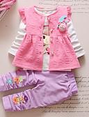 זול סטים של ביגוד לבנות-סט של בגדים כותנה שרוול ארוך דפוס אנימציה ליציאה יום יומי / פעיל בנות פעוטות / חמוד