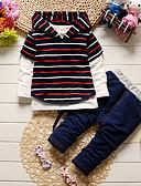זול לבנים סטים של ביגוד לתינוקות-סט של בגדים כותנה שרוול ארוך פסים / אנימציה ליציאה יום יומי / פעיל בנים פעוטות / חמוד