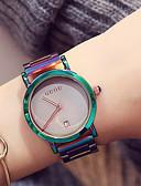 ราคาถูก ชุดเดรสพิมพ์ลาย-สำหรับผู้หญิง สุภาพสตรี นาฬิกาข้อมือ ญี่ปุ่น นาฬิกาอิเล็กทรอนิกส์ (Quartz) สแตนเลส เขียว / ม่วง กันน้ำ ปฏิทิน โครโนกราฟ ระบบอนาล็อก ไม่เป็นทางการ แฟชั่น สง่างาม สีสัน นาฬิกา Creative ที่เป็นเอกลักษณ์