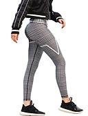 billige Tights-Dame Sport / Fritid / hverdag / Helg Sydd Blonde / Trykt mønster Tights - Ensfarget / Stripet, Vintage Stil / Stripe Grå M L XL / Skinny