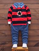 povoljno Kompletići za dječake-Dijete koje je tek prohodalo Dječaci Jednostavan Ulični šik Prugasti uzorak Dugih rukava Normalne dužine Pamuk Komplet odjeće Djetelina / Slatko