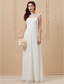 Χαμηλού Κόστους Φορέματα Χορού Αποφοίτησης-Γραμμή Α Με Κόσμημα Μακρύ Σιφόν Ιμάντες Παραλία Illusion Λεπτομέρειες Φορέματα γάμου φτιαγμένα στο μέτρο με Χάντρες / Χιαστί 2020