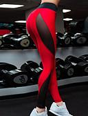 povoljno Tajice-Žene Sexy Sportski Legging - Color block, Vezeno / Print Visoki struk Red M L XL / Uske