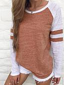 billige Gensere til damer-Bomull T-skjorte Dame - Ensfarget Ferie Lilla