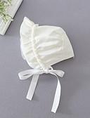 זול ילדים כובעים ומצחיות-מידה אחת לבן כובעים ומצחיות פוליאסטר בנות תינוק