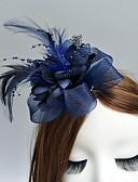 ราคาถูก ที่คาดผมสตรี-ขนนก / สุทธิ fascinators / ดอกไม้ / หมวก กับ ขนนกหรือเฟอร์ / ดอกไม้ 1pc งานแต่งงาน / โอกาสพิเศษ หูฟัง
