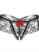 baratos Moda Íntima Exótica para Homens-Mulheres Renda Erótico Tanga & Fio Dental Sólido Cintura Baixa Preto Vermelho Tamanho Único