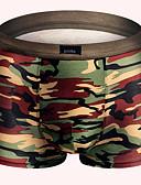 baratos Roupas Íntimas e Meias Masculinas-Homens Estampado Super Sexy Boxer Curto camuflagem 1 Peça Verde Tropa M L XL
