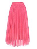זול חצאיות לנשים-אחיד - חצאיות נדנדה רגיל בגדי ריקוד נשים סגול יין כחול בהיר מידה אחת