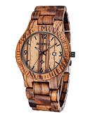 ราคาถูก นาฬิกากีฬา-สำหรับผู้ชาย นาฬิกาข้อมือ ที่ไม่ซ้ำกันสร้างสรรค์นาฬิกา Wood Watch ญี่ปุ่น นาฬิกาอิเล็กทรอนิกส์ (Quartz) ไม้ น้ำตาล 30 m กันน้ำ ปฏิทิน ระบบอนาล็อก ความหรูหรา คลาสสิก - สีน้ำตาล / สองปี / สองปี