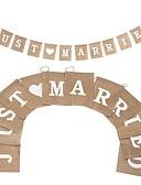 ราคาถูก ของประดับตกแต่งงานแต่งงาน-Banner และที่ปูพื้น กัญชาเชือก / N / A / ต้นปอ เครื่องประดับจัดงานแต่งงาน งานแต่งงาน / งานปาร์ตี้ / งานราตรี ธีมคลาสสิก / การแต่งงาน / ธีมวินเทจ ทุกฤดู