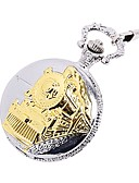 baratos Relógios Infantis-Casal Relógio Esqueleto Relógio de Bolso Quartzo Dourada Gravação Oca Relógio Casual Analógico senhoras Luxo Casual Caveira Steampunk - Dourado
