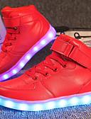 povoljno Majice za Za dječake bebe-Djevojčice Udobne cipele / Svjetleće tenisice Prilagođeni materijali / Umjetna koža Sneakers Mala djeca (4-7s) / Velika djeca (7 godina +) Hodanje Vezanje / Kopčanje na kukicu / LED Crvena / Plava