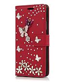Χαμηλού Κόστους Θήκες iPhone-tok Για Apple iPhone X / iPhone 8 Plus / iPhone 8 Θήκη καρτών / Στρας / με βάση στήριξης Πλήρης Θήκη Λουλούδι Σκληρή PU δέρμα
