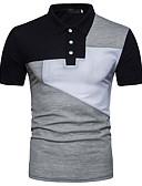 ราคาถูก นาฬิกาข้อมือสแตนเลส-สำหรับผู้ชาย Polo ซึ่งทำงานอยู่ พื้นฐาน คอเสื้อเชิ้ต เพรียวบาง ลายบล็อคสี Black & White ขาว / แขนสั้น / ฤดูร้อน