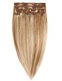 זול שמלות נשף-נתפס עם קליפס תוספות שיער אדם 7Pcs / חבילה 70g / חבילה בינוניחום בינוני / תות בלונדינית בינוני בראון / Bleach בלונדינית גולדן בראון /