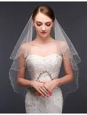 ราคาถูก ม่านสำหรับงานแต่งงาน-ชั้นเดียว สไตล์สมัยใหม่ / การแต่งงาน / สไตล์เรียบง่าย ผ้าคลุมหน้าชุดแต่งงาน Elbow Veils กับ ตะเข็บ / Splicing ลูกไม้ / Tulle / Oval