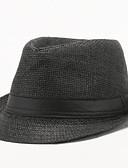 baratos Chapéu Masculino-Homens Vintage Algodão,Chapéu de sol Sólido Verão Preto Castanho Claro Branco