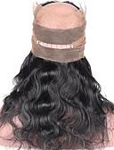 billige Bluser-ELVA HAIR Brasiliansk hår 360 Frontal Krop Bølge / Klassisk Gratis Part / Midtre del / 3 Del Sveitsisk blonde Ekte hår Daglig