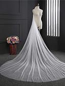 Χαμηλού Κόστους Πέπλα Γάμου-Μίας Βαθμίδας Klasika Πέπλα Γάμου Πολύ Μακριά Πέπλα με Κρόσσι Τούλι / Κλασσικό