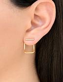 olcso Női kezeslábasok és overállok-Női Beszúrós fülbevalók Elöl is és hátul is stílusos fülbevalók hölgyek Divat Small Fülbevaló Ékszerek Arany / Ezüst / Vörös arany Kompatibilitás Napi Szabadság