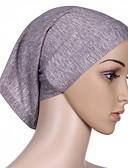 ราคาถูก ผ้าคลุมไหล่-สำหรับผู้หญิง สีพื้น ฝ้าย พื้นฐาน - Hijab