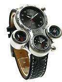 ราคาถูก นาฬิกากีฬา-Oulm สำหรับผู้ชาย สำหรับคู่รัก นาฬิกาใส่ลำลอง นาฬิกาแนวสปอร์ต นาฬิกาแฟชั่น ญี่ปุ่น นาฬิกาอิเล็กทรอนิกส์ (Quartz) หนัง ดำ / น้ำตาล นาฬิกาใส่ลำลอง ระบบอนาล็อก ความหรูหรา วินเทจ - ขาว สีดำ สีน้ำตาล