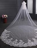 Χαμηλού Κόστους Πέπλα Γάμου-Μίας Βαθμίδας Πεπαλαιωμένο Στυλ Πέπλα Γάμου Πολύ Μακριά Πέπλα με Παγιέτες Τούλι / Κλασσικό