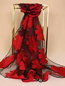 baratos Lenços e lenços femininos-Mulheres Renda, Retângular - Renda Floral / Tecido