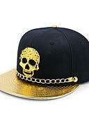 ราคาถูก หมวกสตรี-ทุกเพศ สีพื้น PU ฝ้าย เส้นใยสังเคราะห์ ปาร์ตี้-หมวกเบสบอล ดวงอาทิตย์หมวก สีดำ สีเงิน ทับทิม