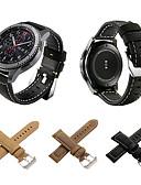 billige Smartwatch Bands-Klokkerem til Gear S3 Frontier / Gear S3 Classic / Gear S3 Classic LTE Samsung Galaxy Klassisk spenne Ekte lær Håndleddsrem