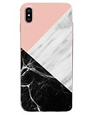 olcso iPhone tokok-Case Kompatibilitás Apple iPhone X / iPhone 8 Plus / iPhone 8 Ultra-vékeny / Minta Fekete tok Mértani formák / Márvány Puha TPU