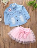 povoljno Kompletići za djevojčice-Dijete koje je tek prohodalo Djevojčice Ležerne prilike Dnevno Izlasci Jednobojni Kolaž Više slojeva Klasičan Sa stilom Dugih rukava Regularna Normalne dužine Pamuk Komplet odjeće Blushing Pink