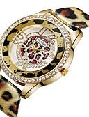 povoljno Nehrđajući čelik-ASJ Žene Casual sat Modni sat Diamond Watch Kvarc Umjetna koža Srebro / Zlatna 30 m imitacija Diamond Analog dame Ležerne prilike Moda - Zlato Pink / SSUO 377