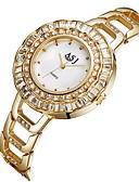 ราคาถูก นาฬิกาข้อมือแฟชั่น-ASJ สำหรับผู้หญิง นาฬิกาใส่ลำลอง นาฬิกาแฟชั่น นาฬิกาเพชร ญี่ปุ่น นาฬิกาอิเล็กทรอนิกส์ (Quartz) สแตนเลส เงิน / ทอง 30 m เลียนแบบเพชร ระบบอนาล็อก สุภาพสตรี ไม่เป็นทางการ แฟชั่น - สีทอง สีเงิน / สองปี