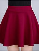 Χαμηλού Κόστους Γυναικείες Φούστες-Γυναικεία Μολύβι Εξόδου Μίνι Φούστες - Μονόχρωμο Ψηλή Μέση Μαύρο Ρουμπίνι XL XXL XXXL