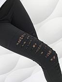 Χαμηλού Κόστους Κολάν-Γυναικεία Αθλητικά Βασικό Γκέτα - Μονόχρωμο, Δαντέλα / Με κοψίματα Μεσαία Μέση Μαύρο M L XL