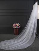 ราคาถูก ม่านสำหรับงานแต่งงาน-Two-tier สไตล์เรียบง่าย ผ้าคลุมหน้าชุดแต่งงาน ผ้าคลุมศรีษะสำหรับชุดแต่งงาน กับ ตะเข็บ Tulle / Straight Cut